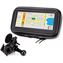 Motorcycle GPS Mount Bike Handlebar Waterproof Touch Case w/ 360 Degree Viewing (Fits 4.5-6.75 Inch Units) for Garmin nüvi 42LM / 40LM / Zumo 660LM , Magellan eXplorist , TomTom RIDER & Phones