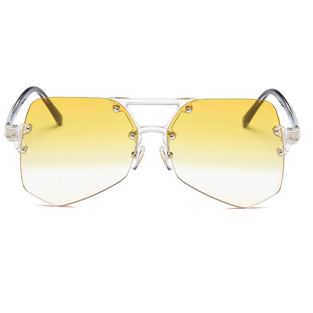 Personalidad gran transparente gafas de Personalidad sol sin marco ...
