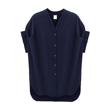 Mujer Botón Abajo Camisa, inkach Chic Niñas Plus tamaño suelto Casual Tops blusa de verano