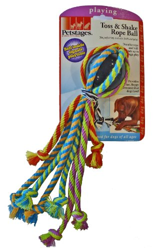 Petstages Toss and Shake Rope Ball, My Pet Supplies
