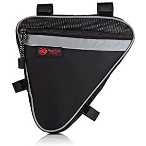 Bike Frame Bag – Best Triangle Accessories Bag with Two Compartments – Conveniently Fits Under the Seat or Below the Handlebars of Most Mountain or Road Bicycles