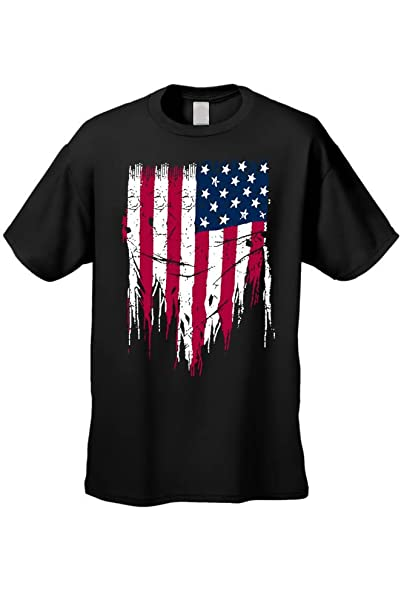 c7cab209e63 SHORE TRENDZ Unisex Fight for your Freedom USA Flag BLACK Short Sleeve  T-shirt (