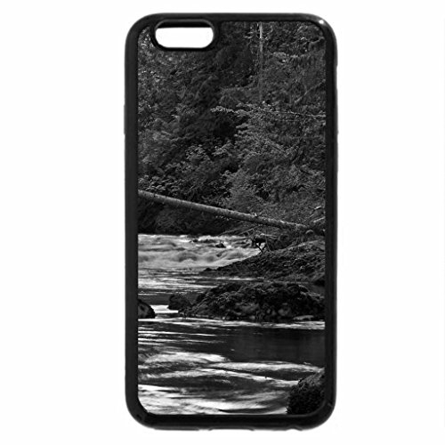 iPhone 6S Plus Case, iPhone 6 Plus Case (Black & White) - Green waterfalls