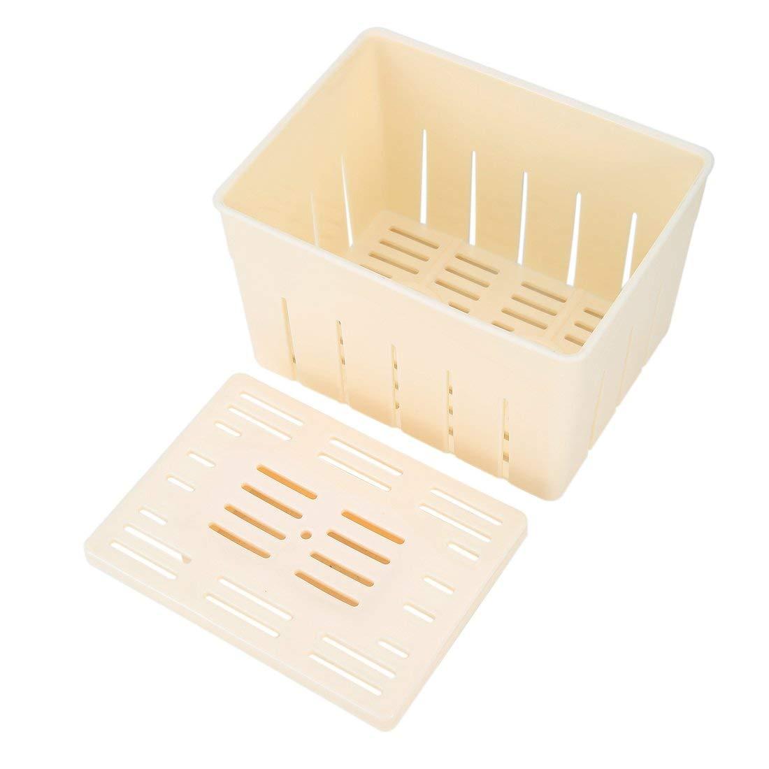 Food-Grade Plastic Tofu Box Tofu Mold Household Tofu Maker DIY Cooking Tool Press-Maker Home Made Healthy Life - White Formulaone