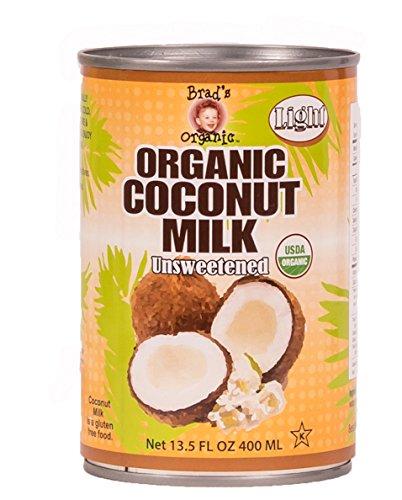 Brad's Organic Coconut Milk Light, 13.5 Fluid Ounce (Pack of 12)