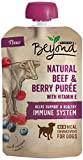 Purina Beyond Natural Wet Dog Food, Beef & Berry Puree, 3.2-Ounce Pouch, Pack of 1