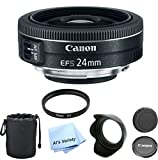 Canon EF-S 24mm f/2.8 STM Premium Lens Bundle- International Model