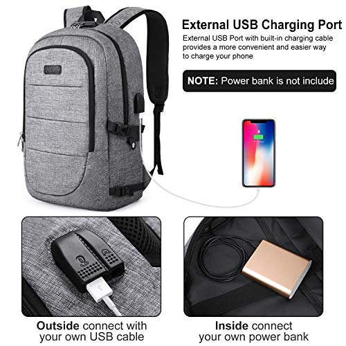 Suitable for Men and Women Comfortable and Durable Laptop Backpack Travel Backpack with USB Charging Port 17 Inches AMZOPDGS Black Veil Brides Fashionable