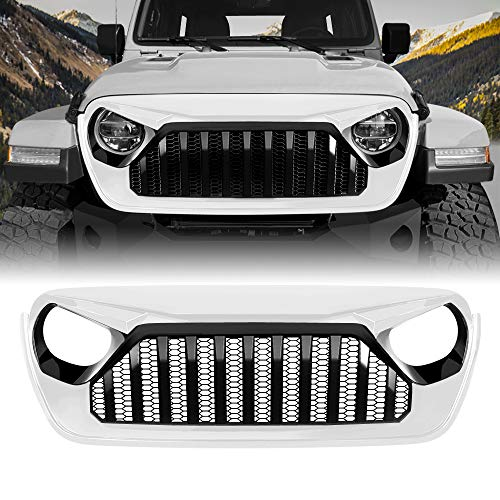 American Modified 2018-2019 JL JLU White & Black Vader Grill Jeep Wrangler Grill Grille Accessories & Unlimited, ABS ()