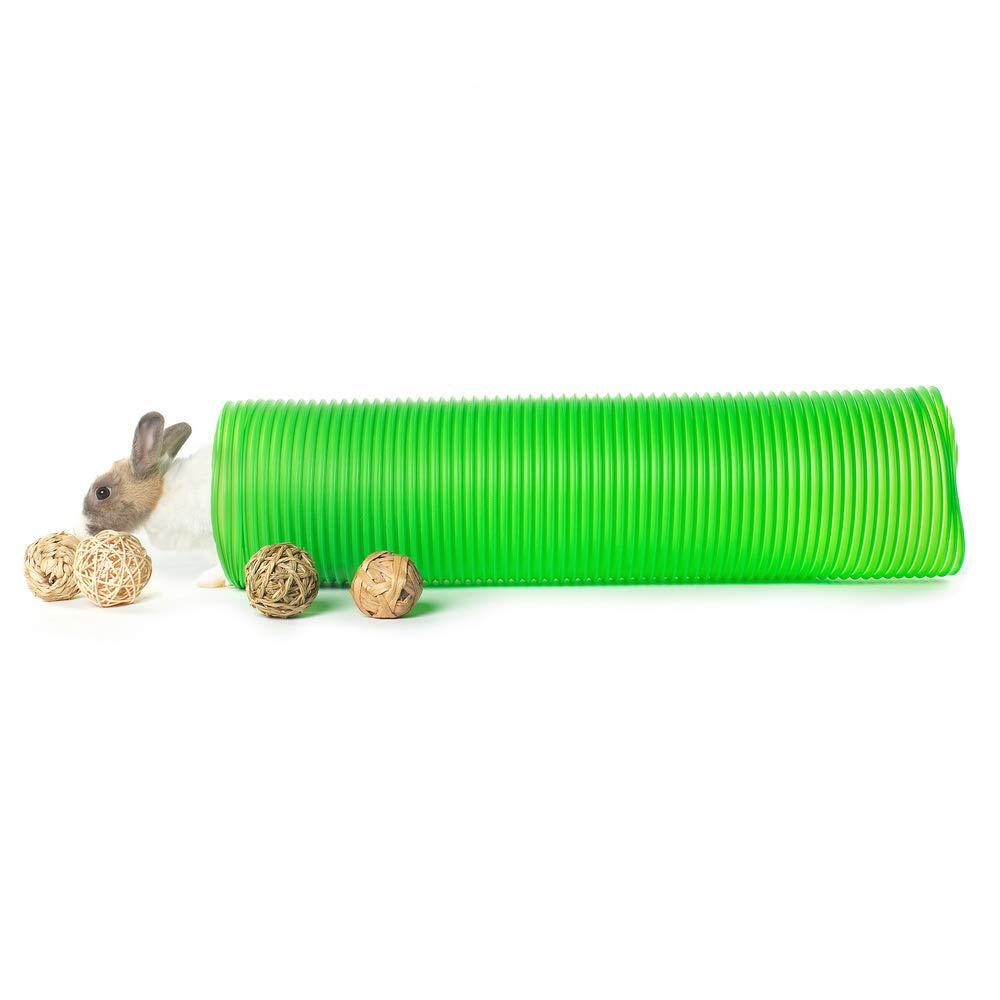 Niteangel Rabbit Tunnel 4 Pack Natural Ball Toys (Green)
