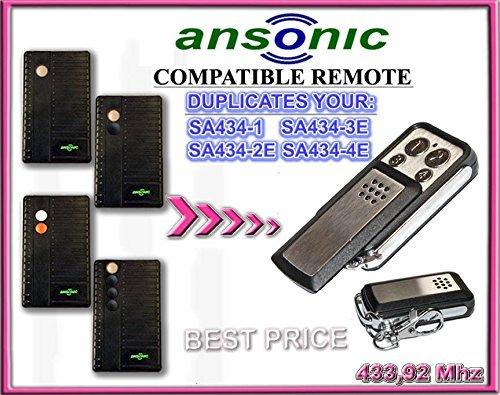 ANSONIC SA 434-1/SA 434-2E/SA 434-3E/SA 434-4E, 433.92 mhz mandos ...