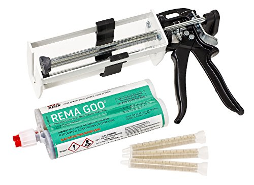 Rema Tip - REMA TIP TOP REMA GOO Starter Kit (REMA GOO Manual Dispensing Gun, REMA GOO Cartridge 13.5 oz, & 3 REMA GOO Mixing Tips)