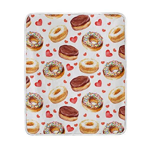 Amazon Com Colourlife Soft Microfiber Blanket Doughnuts