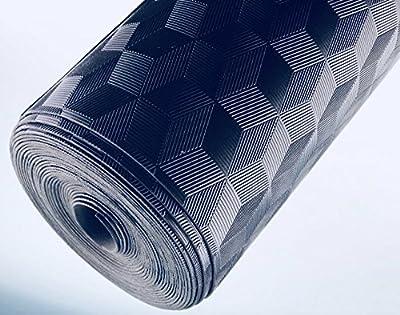 AMERIQUE 691322304039 Premium 3Rd Generation Unique and Durable Embossed Diamond Plated Metallic Vinyl Flooring, Coverage: 200Sqft, Grade Diamond, 200 Square Feet