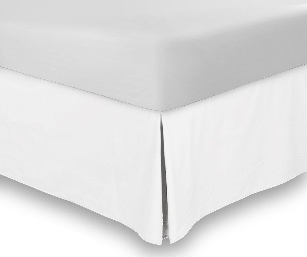 ベッドスカートキング16インチドロップホワイト分割コーナーベッドスカートKing 76 x 80のセット1 pc 500 Thread Count with 100 %エジプト綿 B07DWR1VHJ
