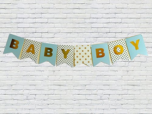 SALE! Idiogram BABY BOY Paper Bunting Banner Birthday Party Shower Christening Garland Decoration Favors