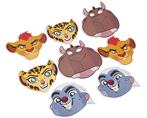 Lion Guard Masks (8 Count) Lion King Birthday Party Supplies Decorations Favors
