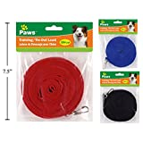 Paws 15ft Training/Tie-Out Lead 1pc Assorted Colors