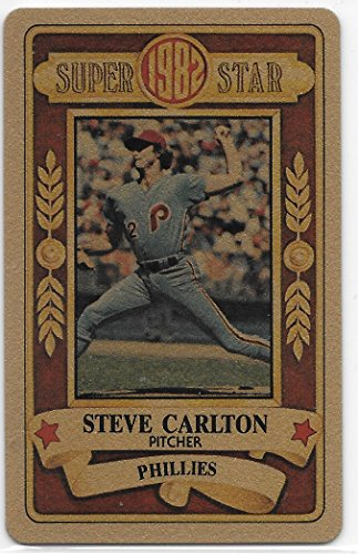 Steve Carlton 1982 Perma-Graphics Gold Credit Card Super Star Philadelphia Phillies Card #10