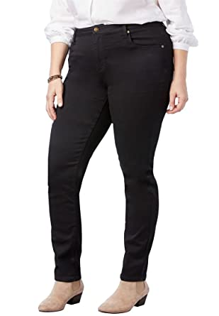 637096ba2134b Woman Within Plus Size Perfect Straight Leg Jean at Amazon Women s Jeans  store