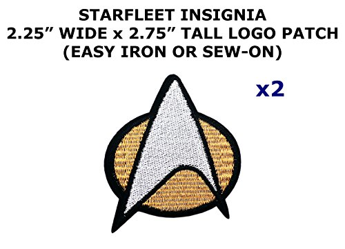 Assassin Creed Costume Diy (2 PCS Star Trek Starfleet Insignia Theme DIY Iron / Sew-on Decorative Applique Patches)