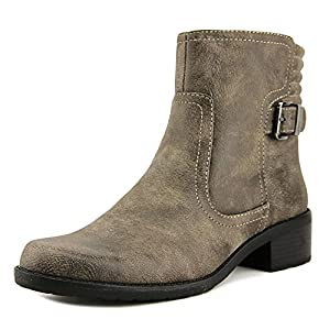 AK Anne Klein Sport Women's Lanette Motorcycle Boot, Taupe, 10 M US