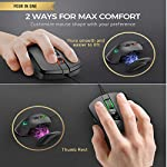PICTEK Gaming Mouse Wired 24,000 DPI RGB Gaming Mice with 17-Programmable-Buttons, 4 Interchangeable Side Plate…