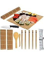 Zestaw do robienia sushi oryginalny zestaw bambusowy z nożem do sushi szefa kuchni DIY zestaw sushi jest łatwy i zabawny