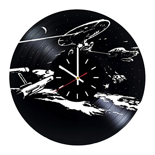 Star Trek Next Generation Vinyl Record Wall Clock - Bedroom wall decor - Gift ideas for friends, parents, teens – Movie Unique Art Design]()