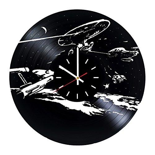 Star Trek Next Generation Vinyl Record Wall Clock - Bedroom wall decor - Gift ideas for friends, parents, teens - Movie Unique Art Design