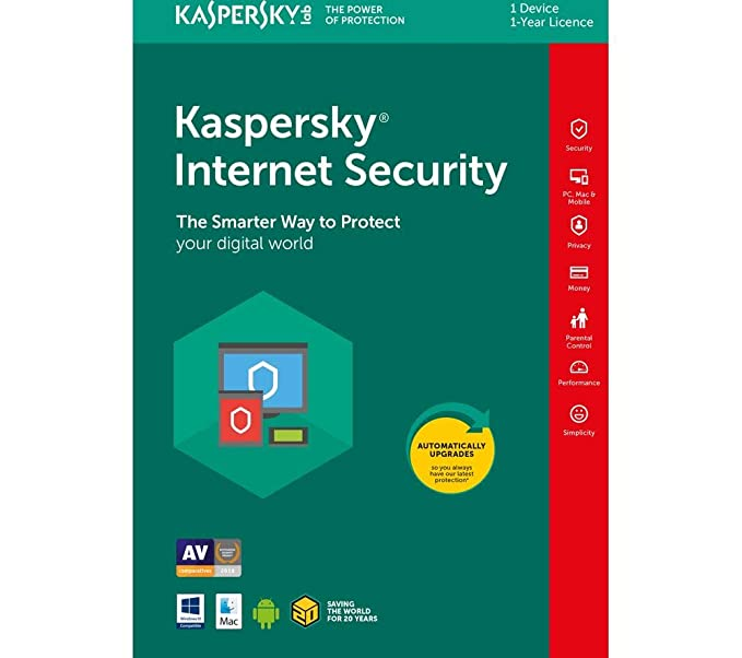 Kaspersky internet Security 2019, 1 Device, 1 Year, Activation Key, Only  Use USA, [Online Code]