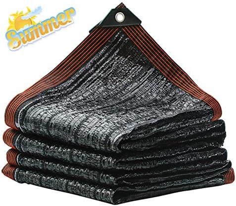 95%黒の遮光布、厚く平らなプレーン遮光ネット、バルコニーの庭の植物や花の温室納屋の犬小屋(6.5ft×10ft)で使用