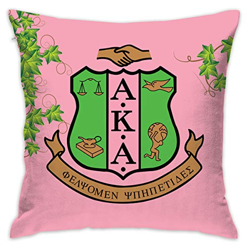 POP SHOTSTM Alpha Kappa Alpha Square Cushion Cover Decorative Throw Pillow Cover Sofa Home Decoration Car Seat Decor 18