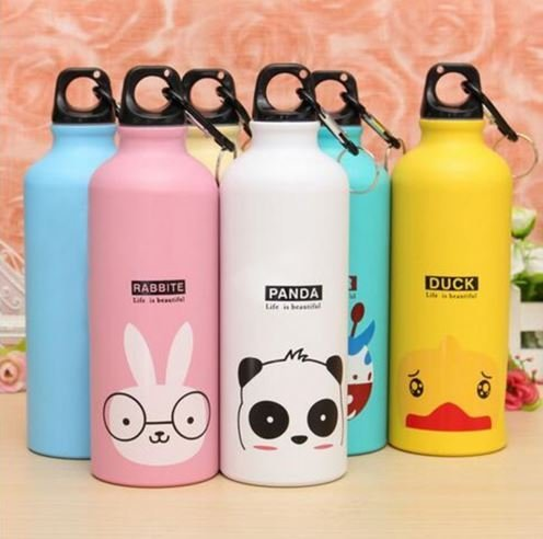 [Rabbit malls, Candy Color 500ML Cute Cartoon Pattern Aluminum Water Bottle Kitchen Accessories by Rabbit] (Funny Chemistry Halloween Costumes)