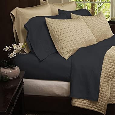Bamboo Extra Soft Queen Bed Sheet Set - 4pc Set - Deep Pockets - Wrinkle Free (Queen, Slate Grey)