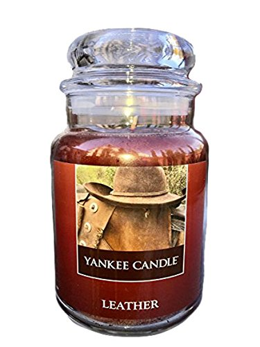 Yankee Candles LEATHER Large Jar