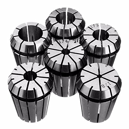 6pcs ER32 Spring Collet 1/8 Inch to 3/4 Inch Chuck Collet for Milling Lathe - Lathe Tool Collet Chuck - 1x Set (6pcs) ER32 Spring Collet by Unknown