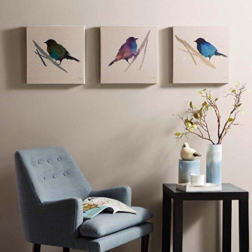 Madison Park 3 Piece Branch & Flight Linen Canvas (Megan Comforter)