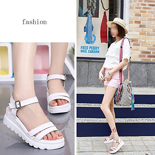 Eu41 Summer Beige Female With Flat White 8 5 bottom uk7 Amazing cn42 Thick Size Large Sandals color Slope wz7pP0pq