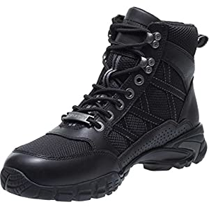 Harley-Davidson Men's Stark 5-In Leather/Mesh Motorcycle Boots D96158 (Blk, 12)