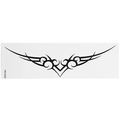 Negro en espiral diseño Transfer Tribal Tatuajes Sello Piel ...