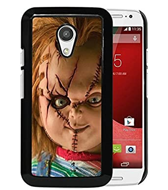 Para Moto G 2 ND, Scary Chucky muñeca negro carcasa para ...