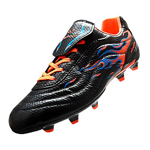 Up Firm Shoes Mens Cool Soccer Ground Sneakers Lace For Boys Black Tiebao Cleats Football xq0g4vX