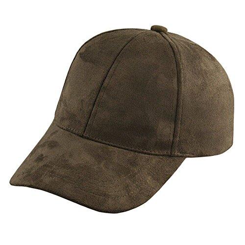 Unisex Men Women Suede Baseball Cap Snapback Visor Sport Sun Adjustable Hat (Army Green)