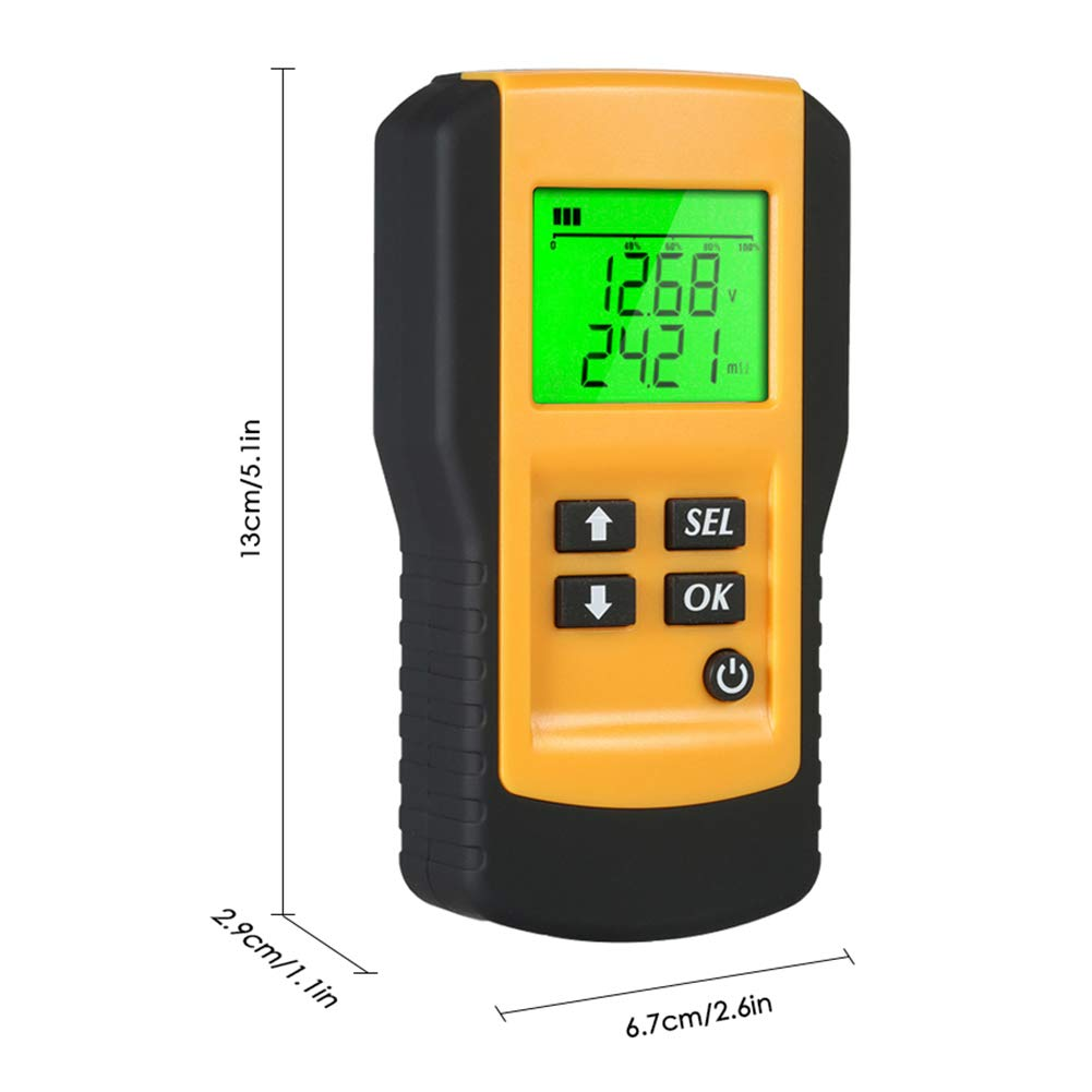 Digital 12V Car Battery Tester Automotive Battery Load Tester and Analyzer of Battery Life Percentage,Voltage, Resistance and CCA Value by coogstore (Image #5)