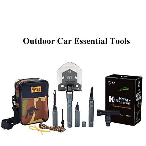 Military Multifunction Folding Utility Shovel Ice Axe Hammer Handle Self-Driving Tool by Giant Outdoor (Image #1)