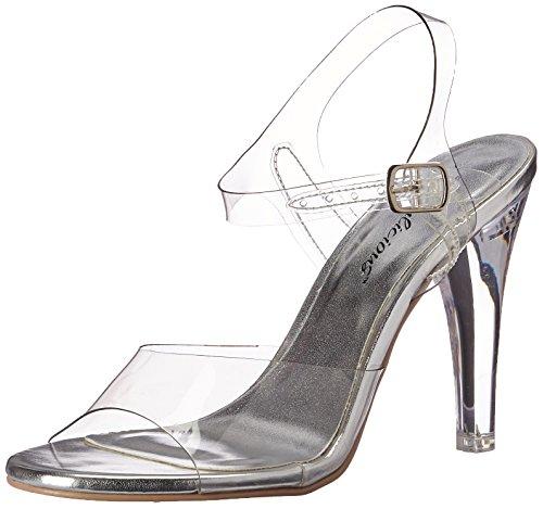 Fabulicious Women's Cle408/c Platform Sandal, Clr Lucite, 12 M US