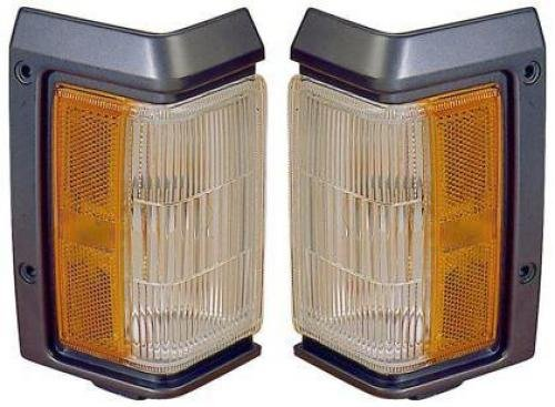 Go-Parts PAIR/SET OE Replacement for 1993-1995 Nissan Pathfinder Side Marker Lights Assemblies/Lens Cover - Front Left & Right (Driver & Passenger) Side For Nissan Pathfinder