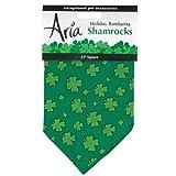 Aria Cotton Green Shamrocks Holiday Dog Bandanas, 22-Inch