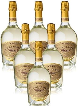 """""""Casa Vittorino"""" Valdobbiadene Prosecco Superiore Millesimato Docg Vino Espumoso Italiano (6 botellas 75 cl.)"""